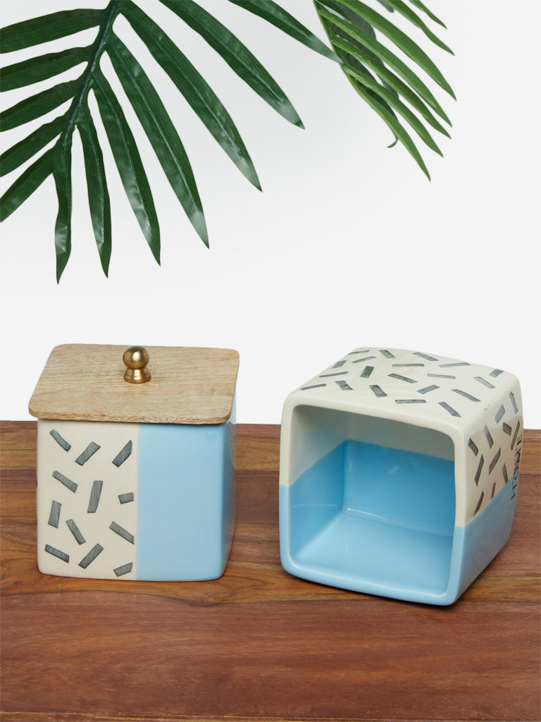 Westside Home Blue Square Jar