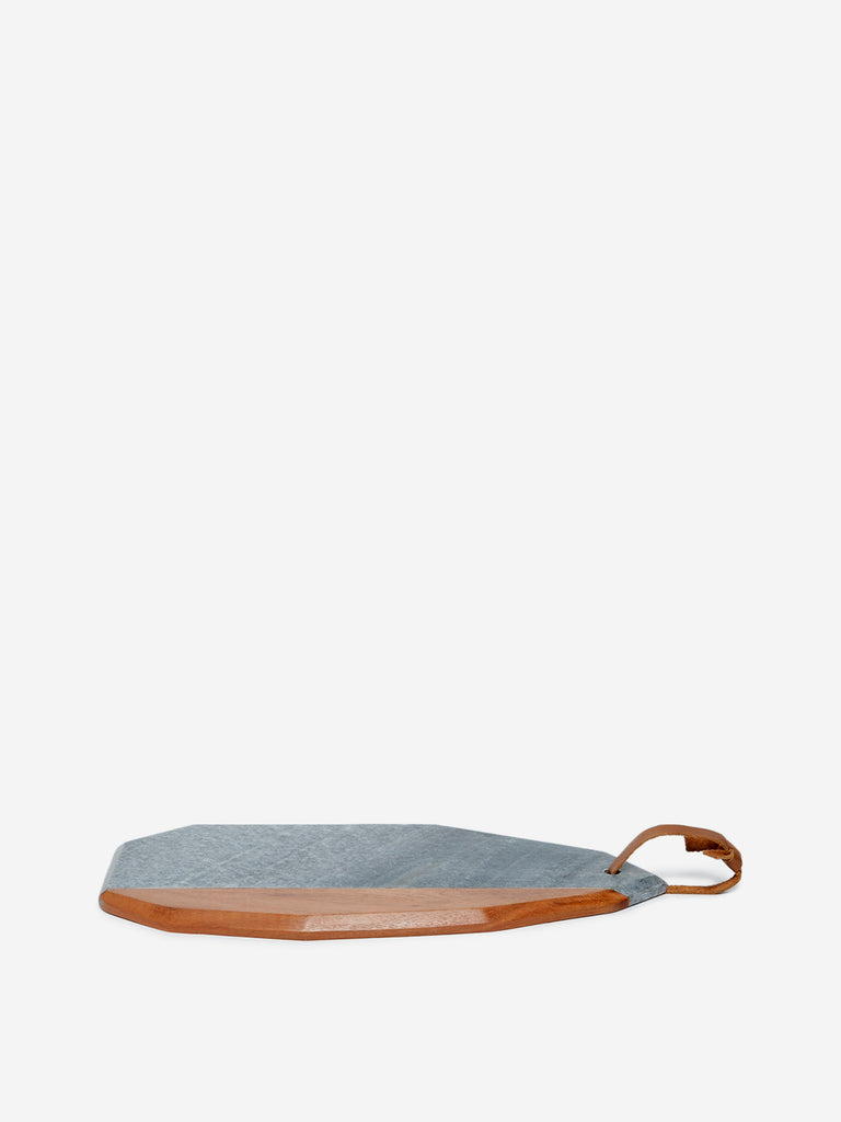 Westside Home Multicolour Marble-Wood Chopping Board
