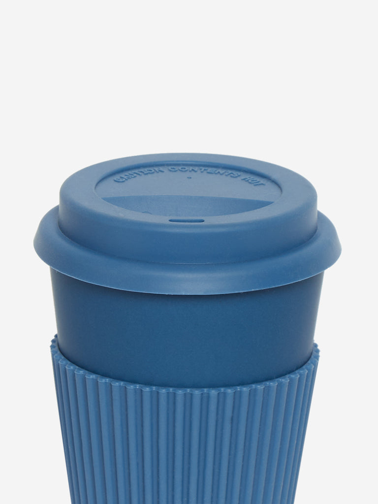 Westside Home Blue Travel Silicone Eco Coffee Mug