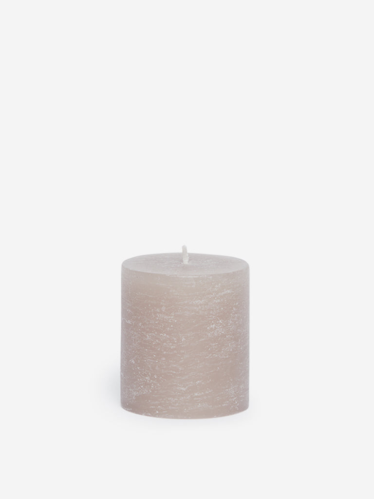 Westside Home Grey Short Pillar Candle