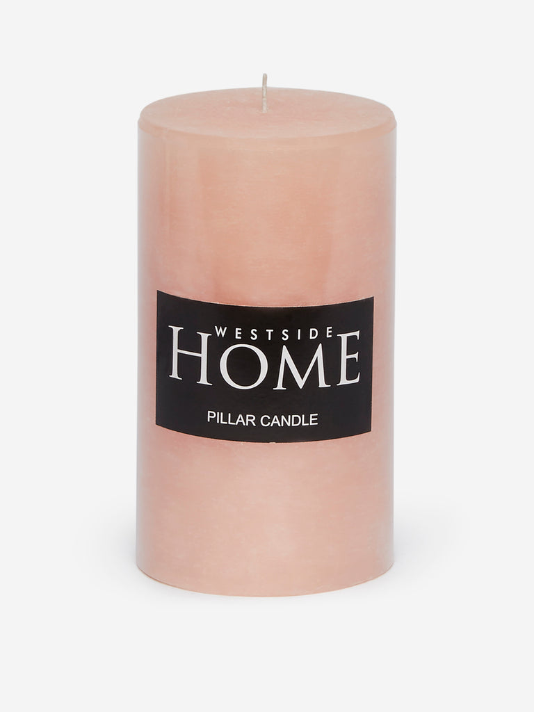 Westside Home Pink Pillar Candle