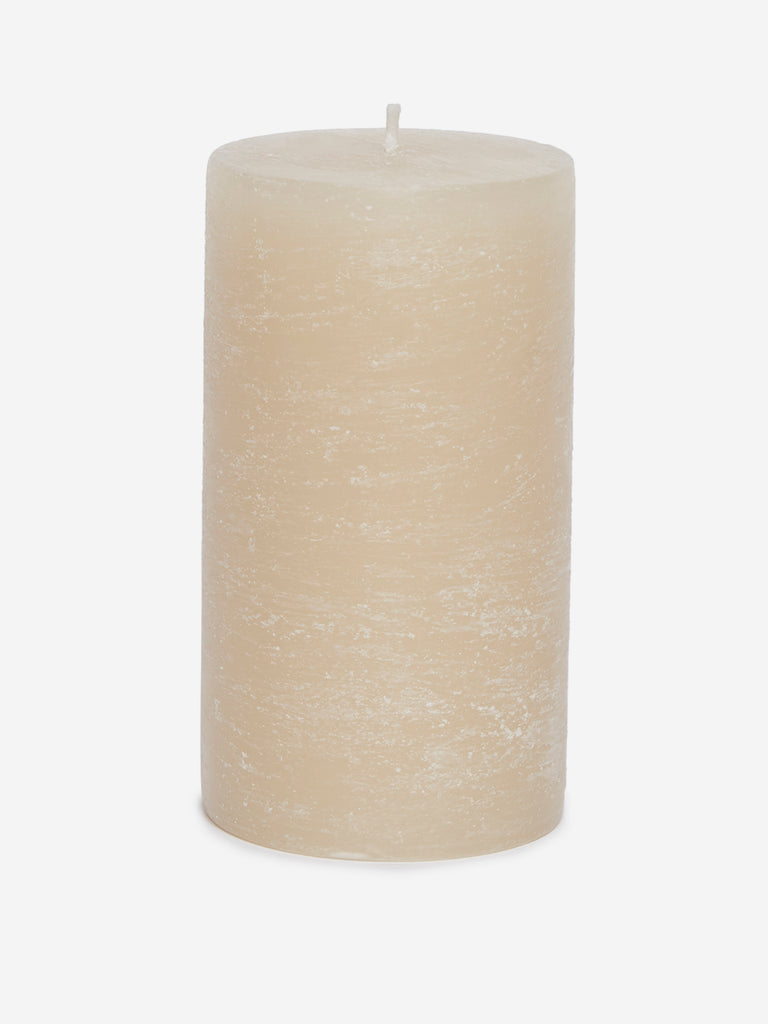 Westside Home Off White Pillar Candle