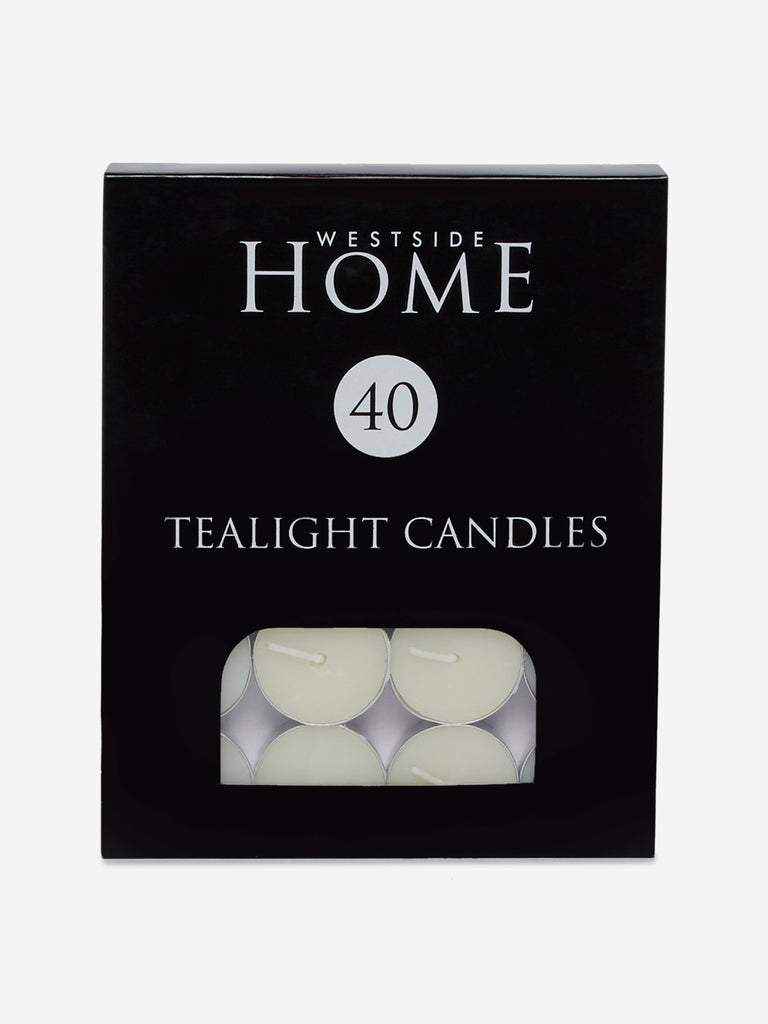 Westside Home Off White Tea-Light Candles Set of Forty