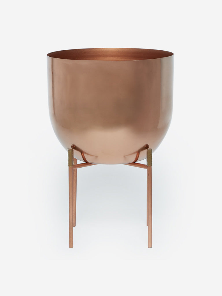 Westside Home Copper Short Planter with Stand