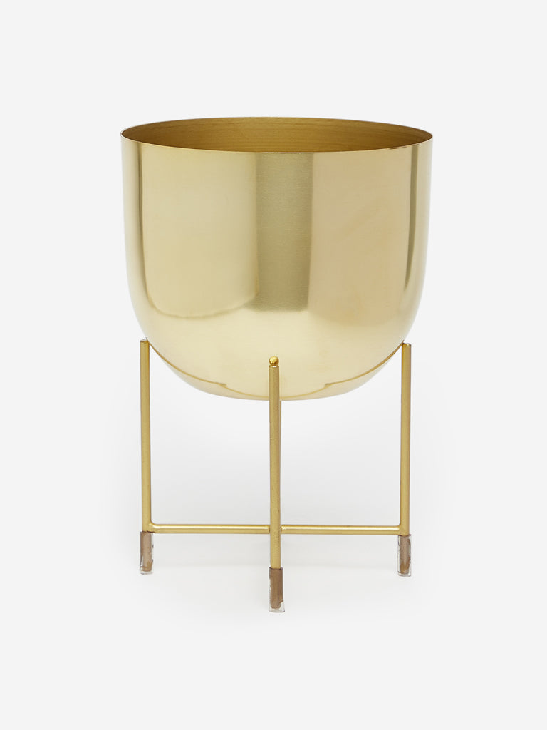 Westside Home Gold Planter with Stand
