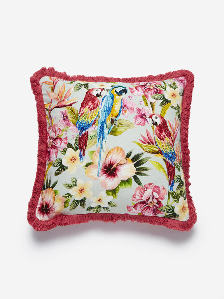 Westside Home Multicolour Tropical Cotton Cushion Cover