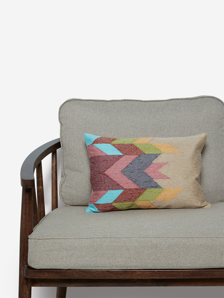 Westside Home Multicoloured Knit Pure Cotton Cushion Cover