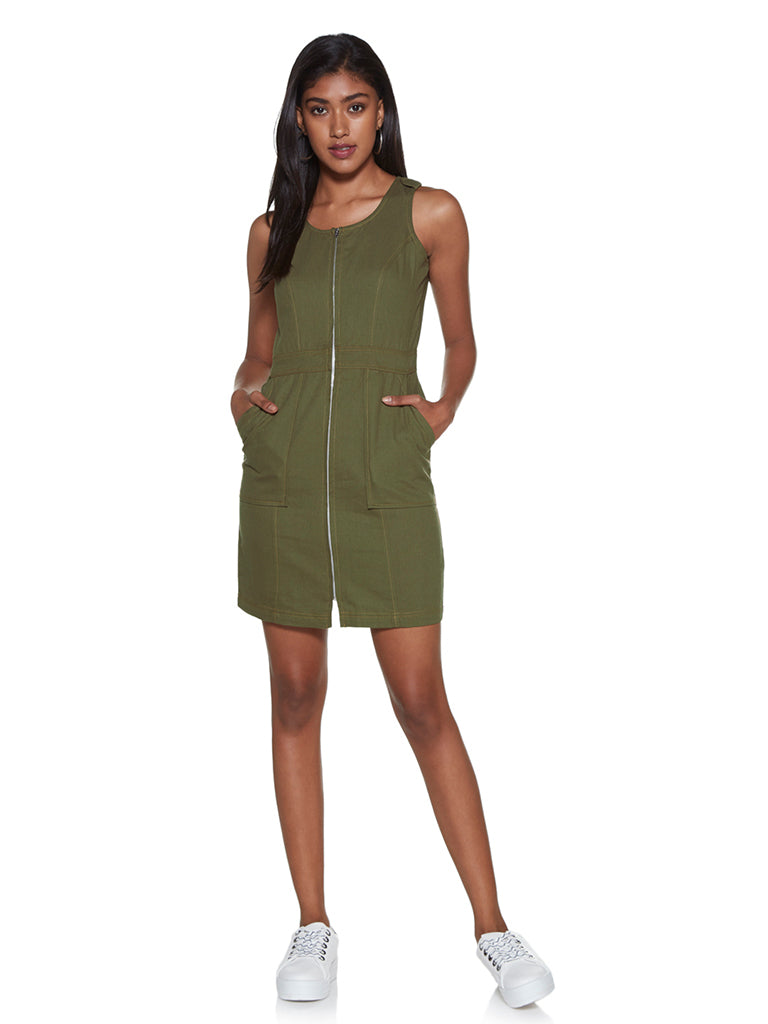 Nuon Khaki Pure Cotton Nelson Dress