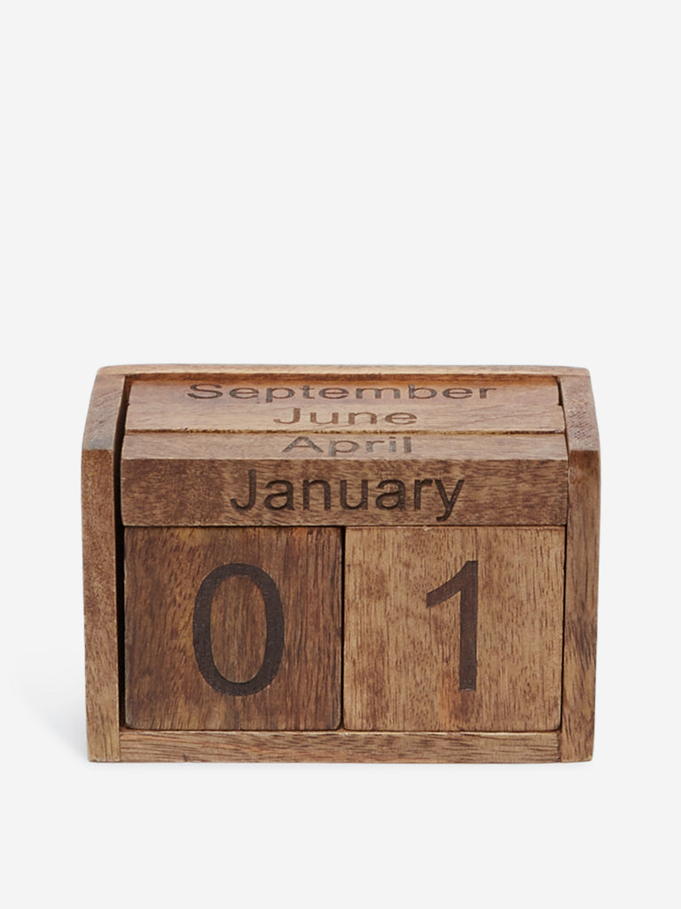 Westside Home Brown Desk Calendar Set