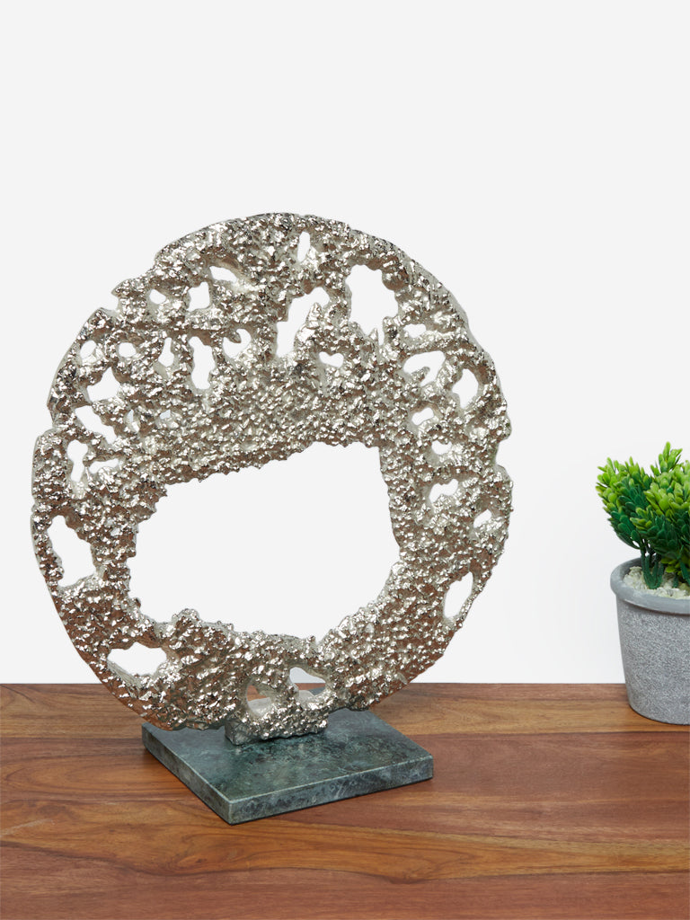 Westside Home Silver Moon Design Stand Decor
