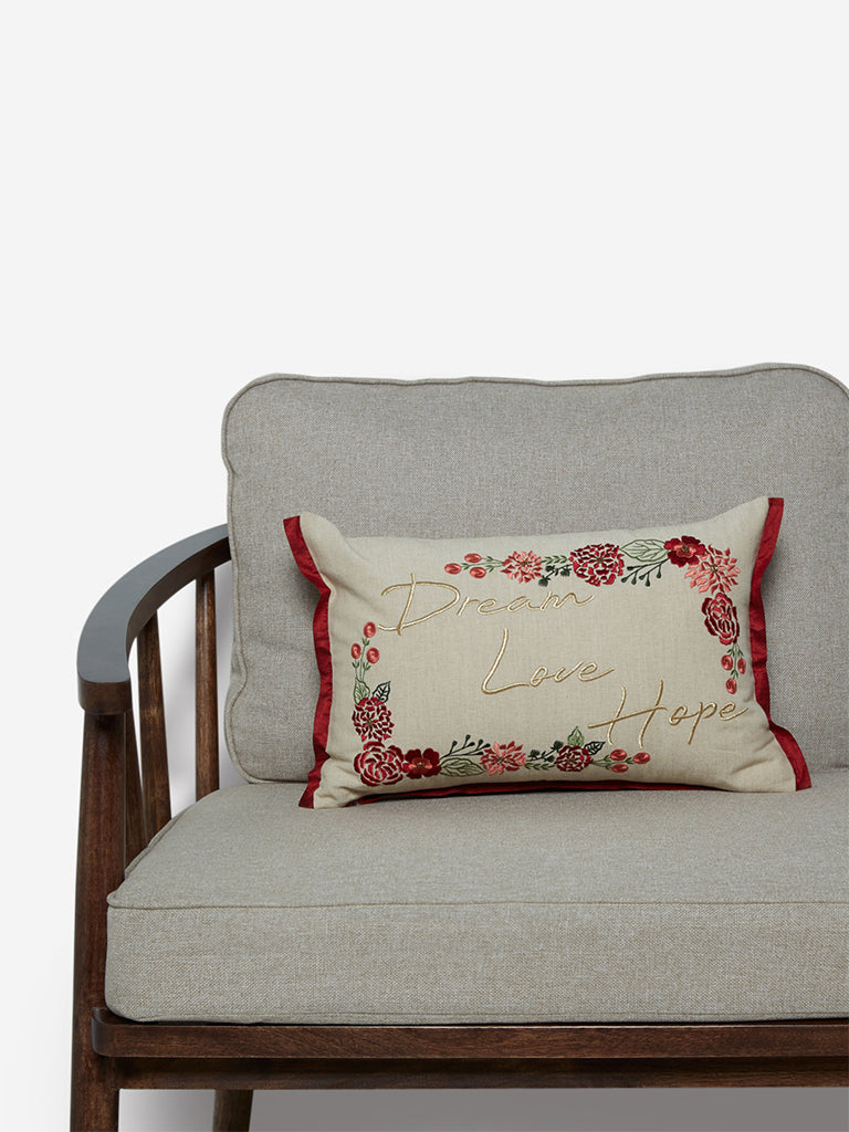Westside Home Multicolour Embroidered Cushion Cover