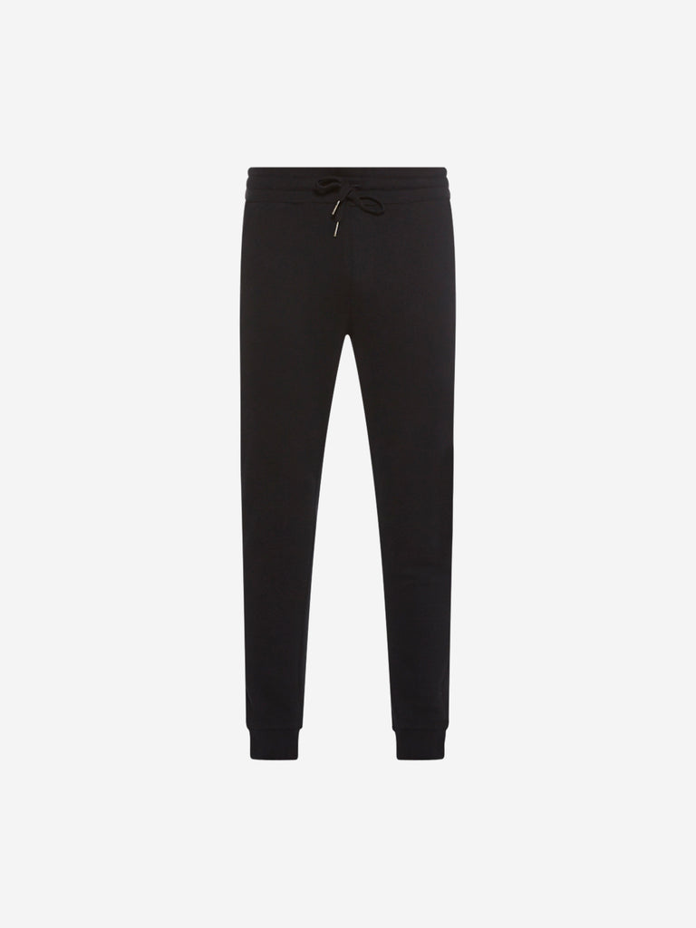 ETA Black Self-Textured Joggers