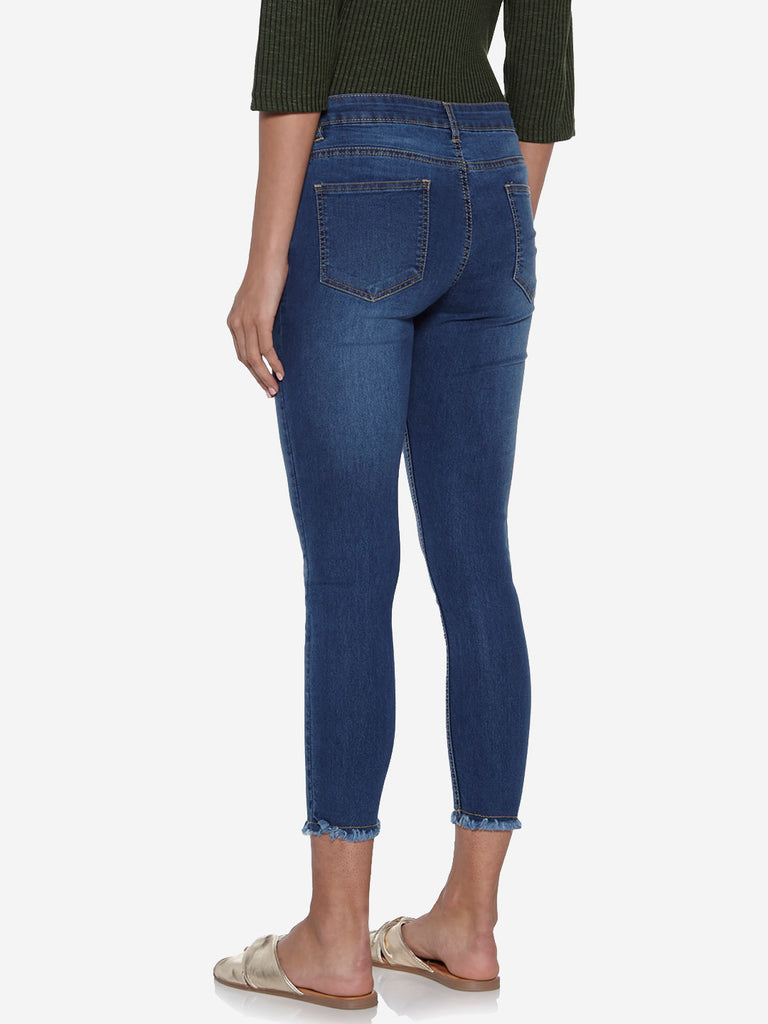 LOV Blue Distressed Farana Jeans