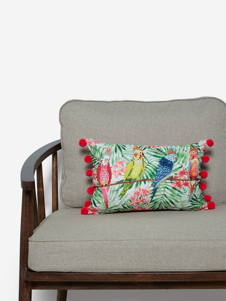 Westside Home Multicoloured Tropical Print Cushion Cover