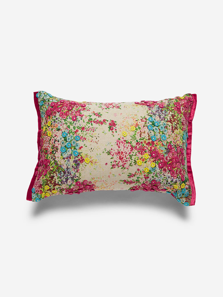 Westside Home Multicoloured Floral Cushion Cover