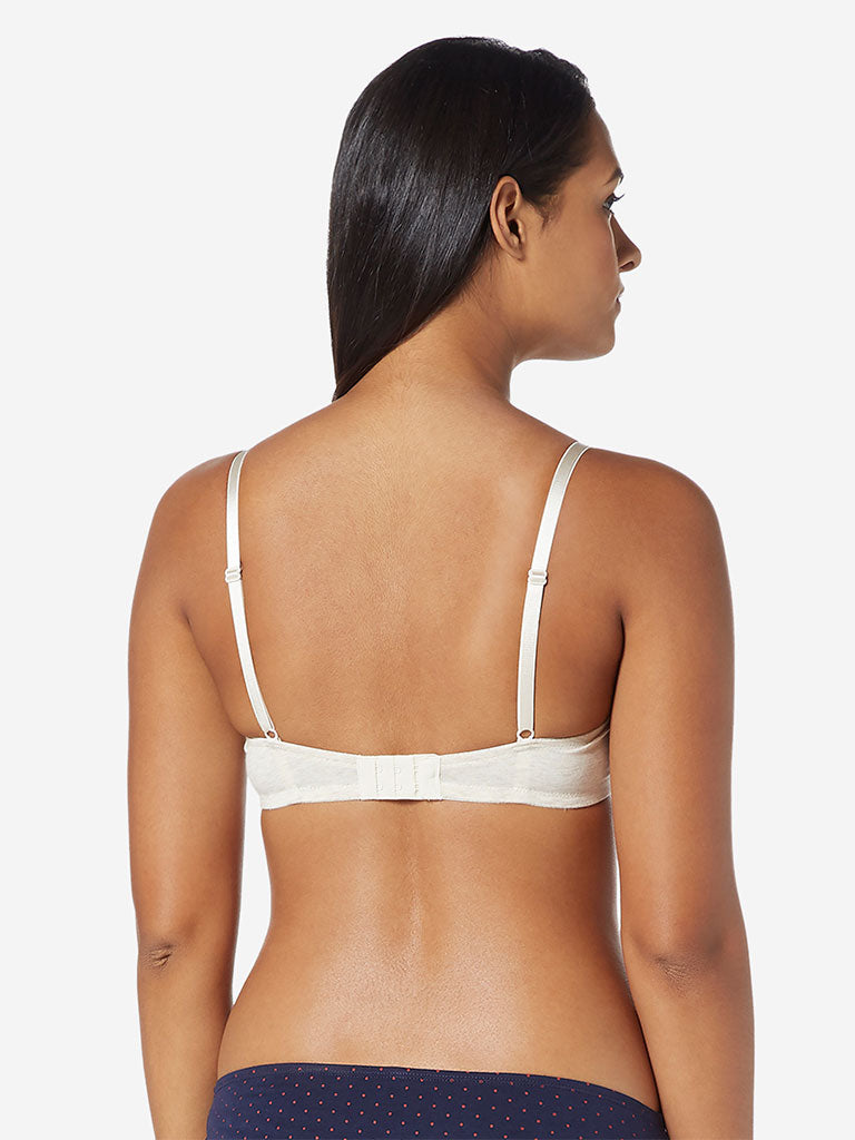 Wunderlove Off-White Non-Wired Padded Bra