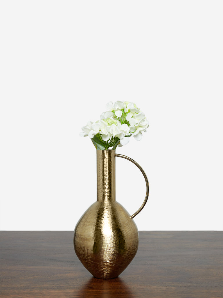 Westside Home Gold Brass Jug Vase