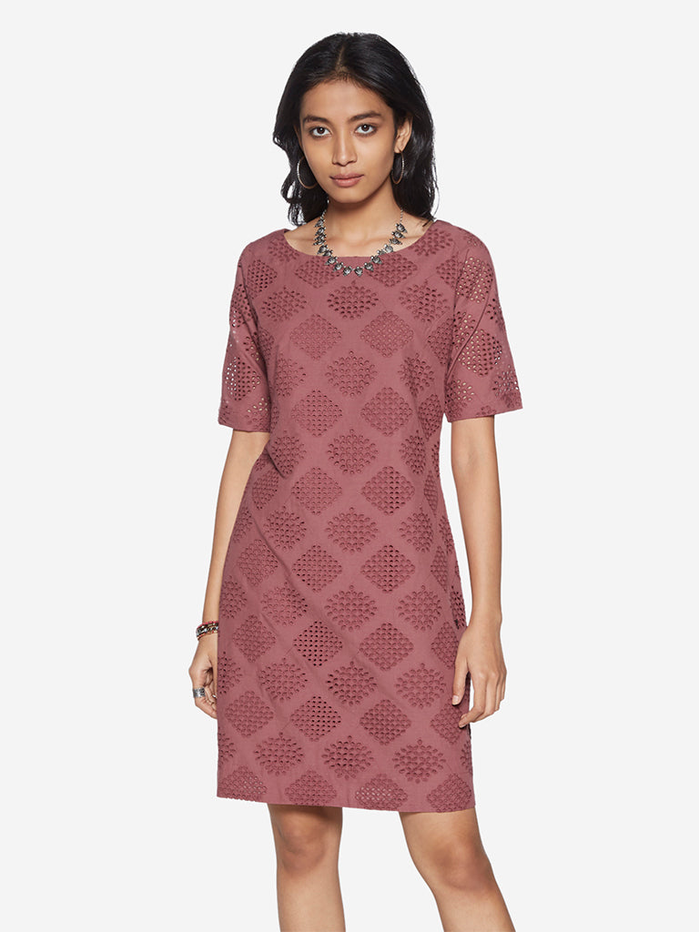 Bombay Paisley Persian-Rose Pure Cotton Dress