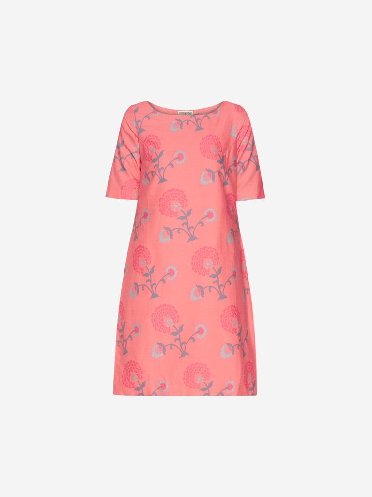 Bombay Paisley Peach Floral Shift Dress