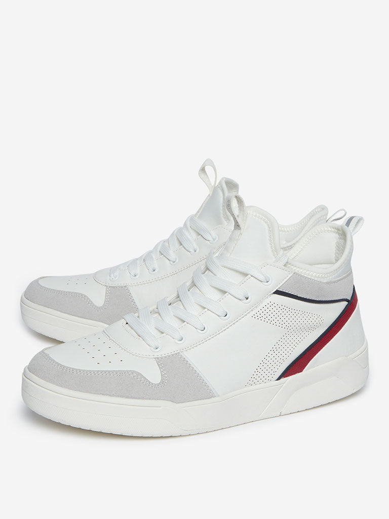 SOLEPLAY White High-Top Sneakers
