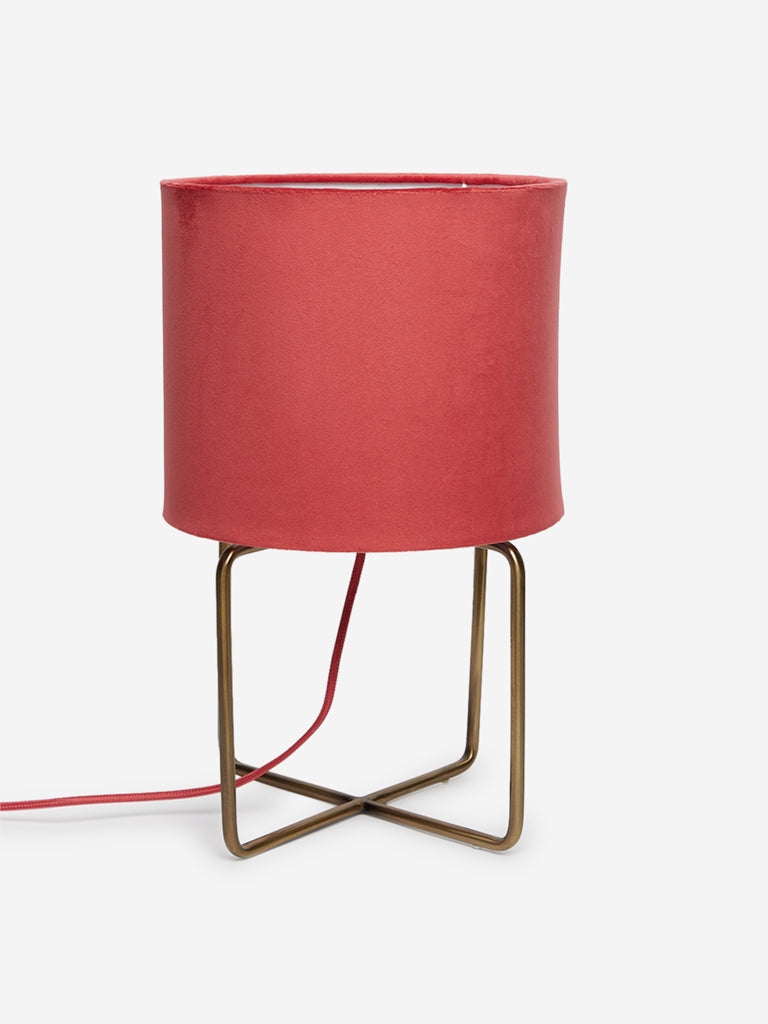 Westside Home Dark Pink Suffolk Table Lamp