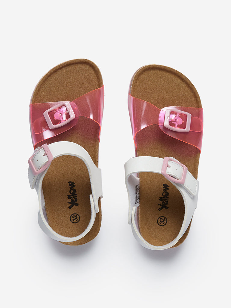 Yellow Kids Pink Dual-Strapped Sandals