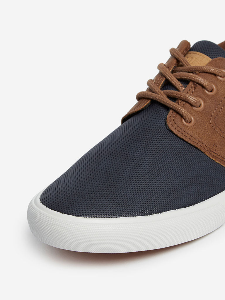 SOLEPLAY Navy Perforated Lace-Up Sneakers