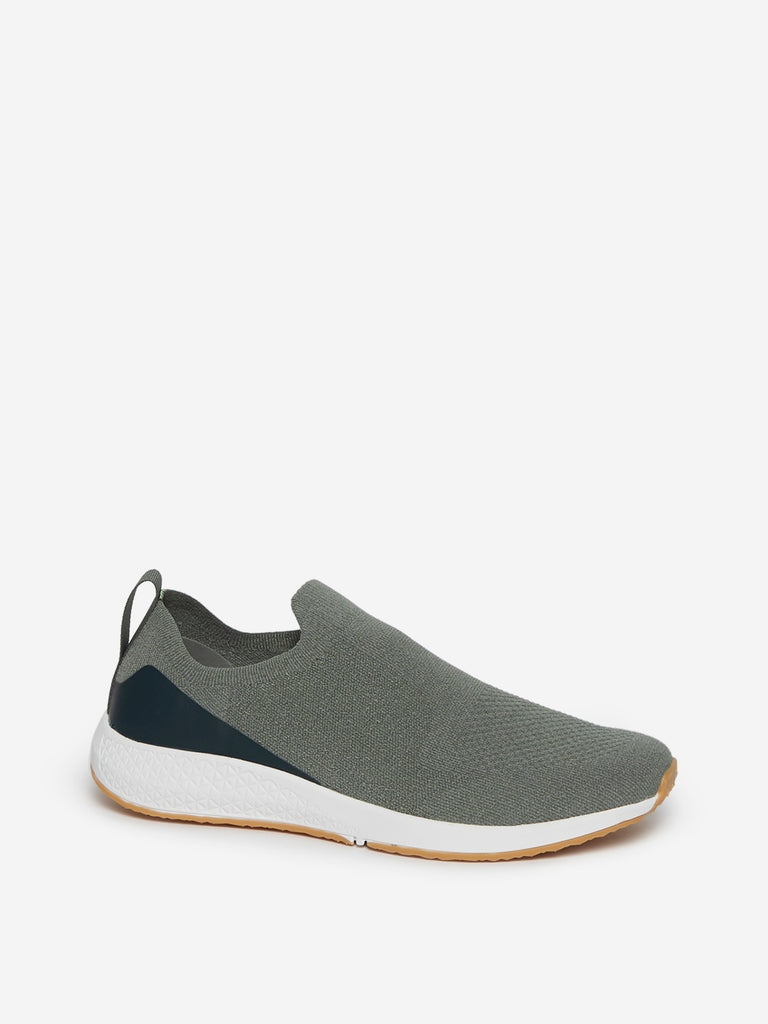 LUNA BLU Sage Knitted Slip-On Sneakers