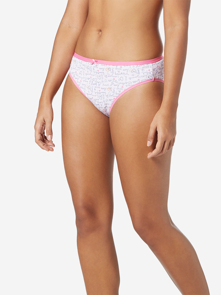 Wunderlove Pink Hi-Leg Briefs Pack Of Three