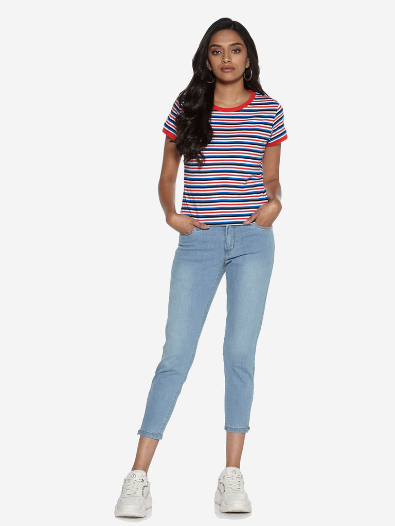 Nuon Multicolour Stripe Print Sam T-Shirt