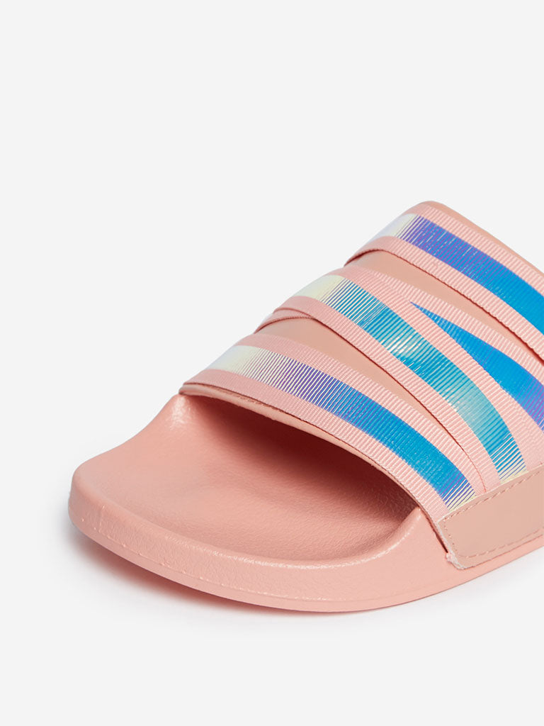 LUNA BLU Peach Iridescent Design Slides