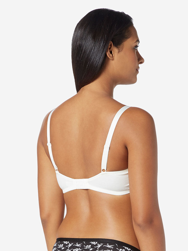 Wunderlove Off-White Non-Padded Non-Wired Bra