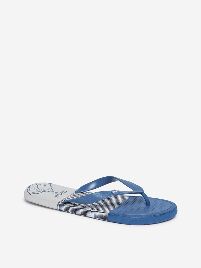 SOLEPLAY Blue Colour-Blocked Flip-Flops