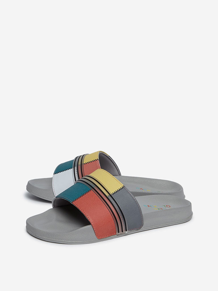 SOLEPLAY Multicolour Panel Pattern Slides