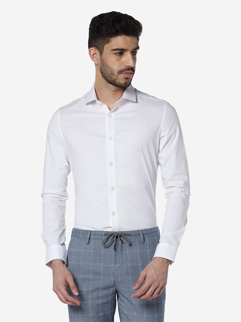 WES Formals White Ultra-Slim Fit Shirt