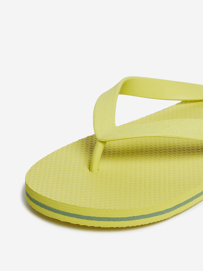 SOLEPLAY Yellow Textured Flip-Flops