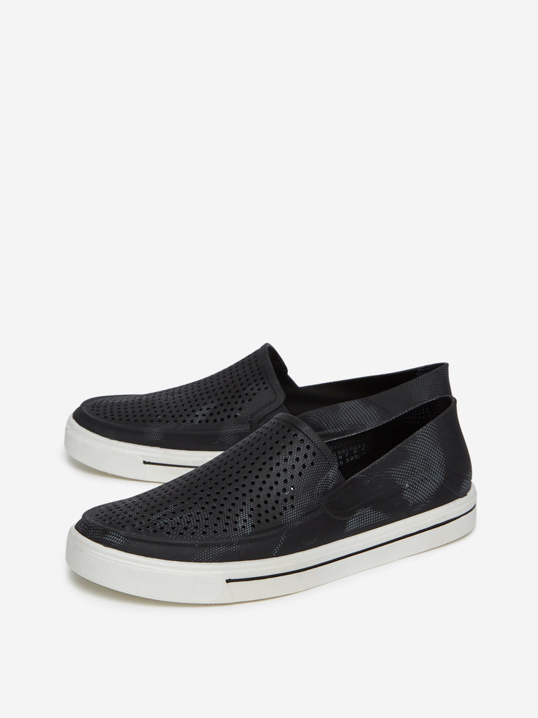SOLEPLAY Black Perforated Loafers