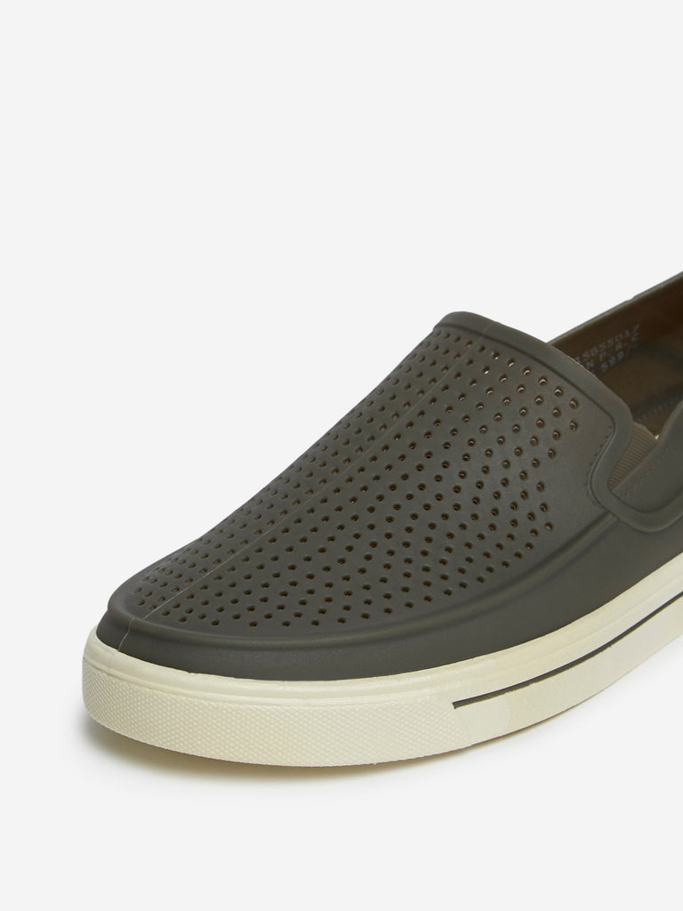 SOLEPLAY Grey Rubberised Loafers