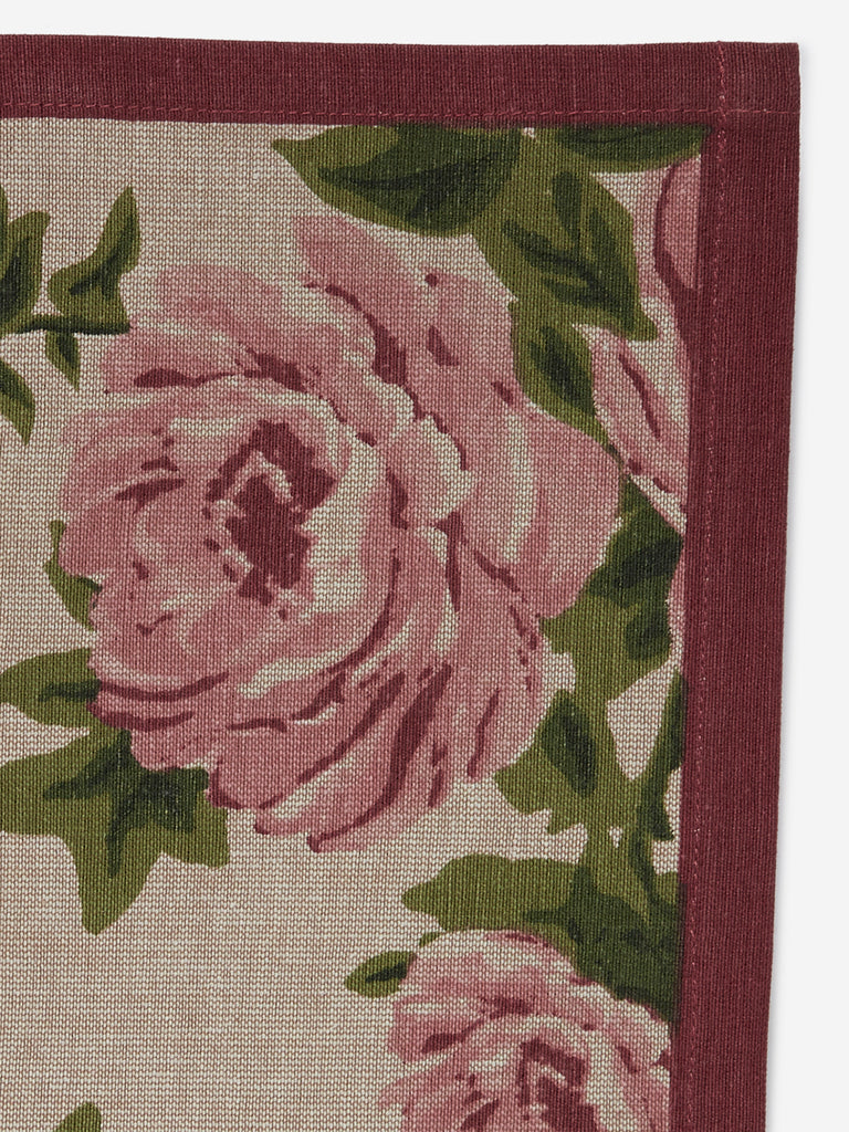 Westside Home Soft-Pink Floral Print Placemats Set Of Six