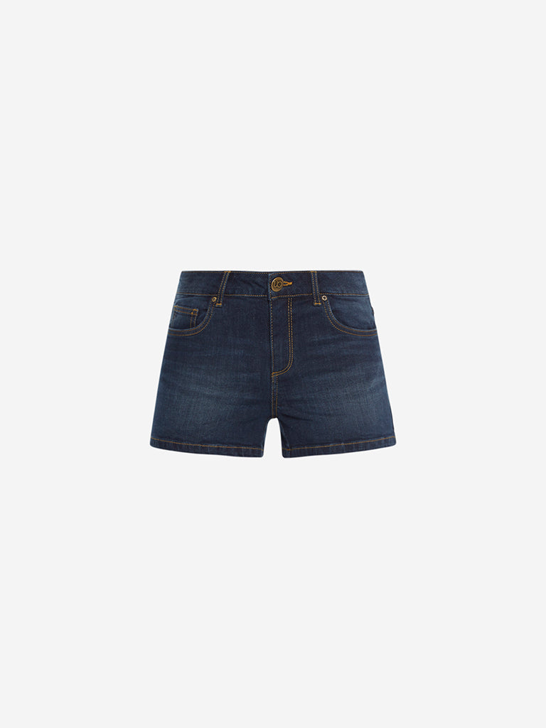 Nuon Dark Blue Shorts