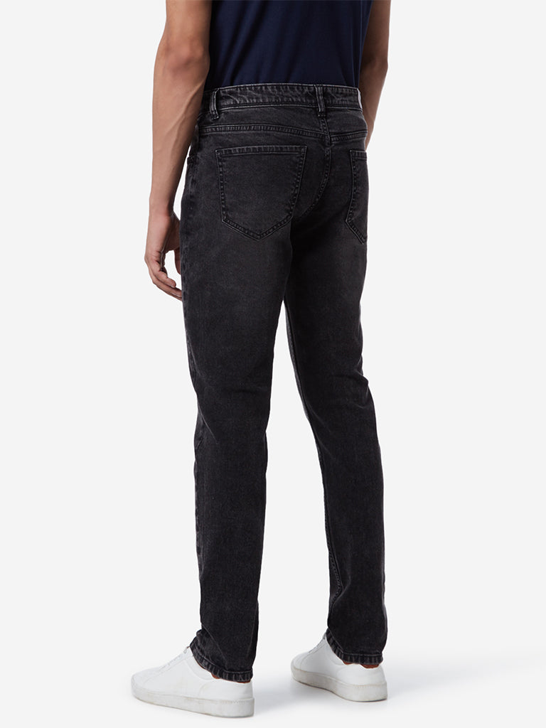WES Casuals Charcoal Slim Fit Jeans