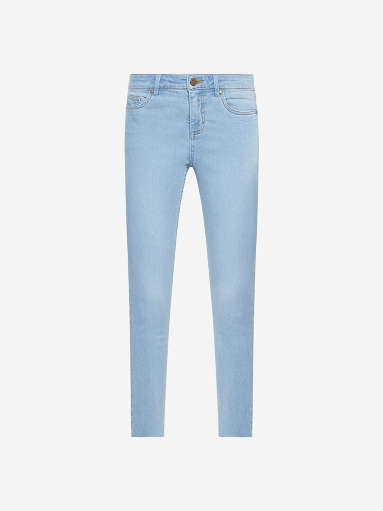 Nuon Light Blue Skinny Fit Mid Waist Jeans