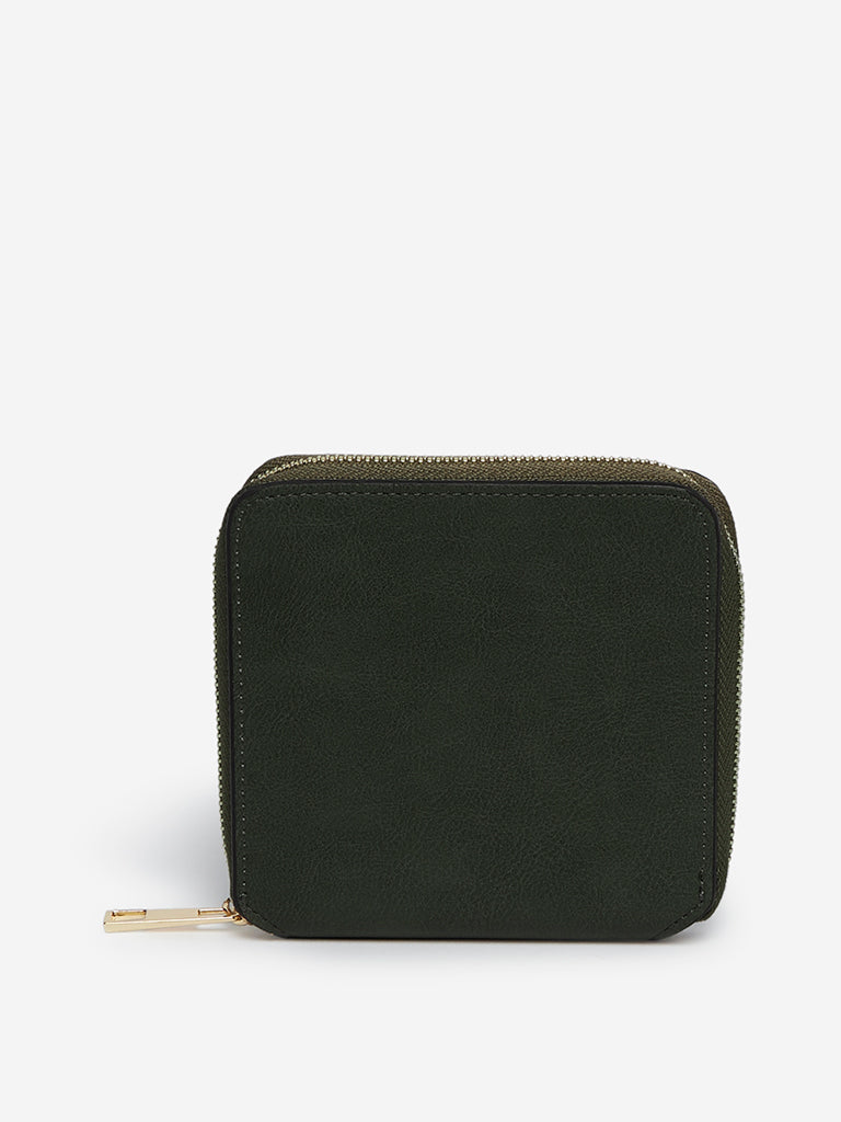LOV Olive Faux-Leather Wallet