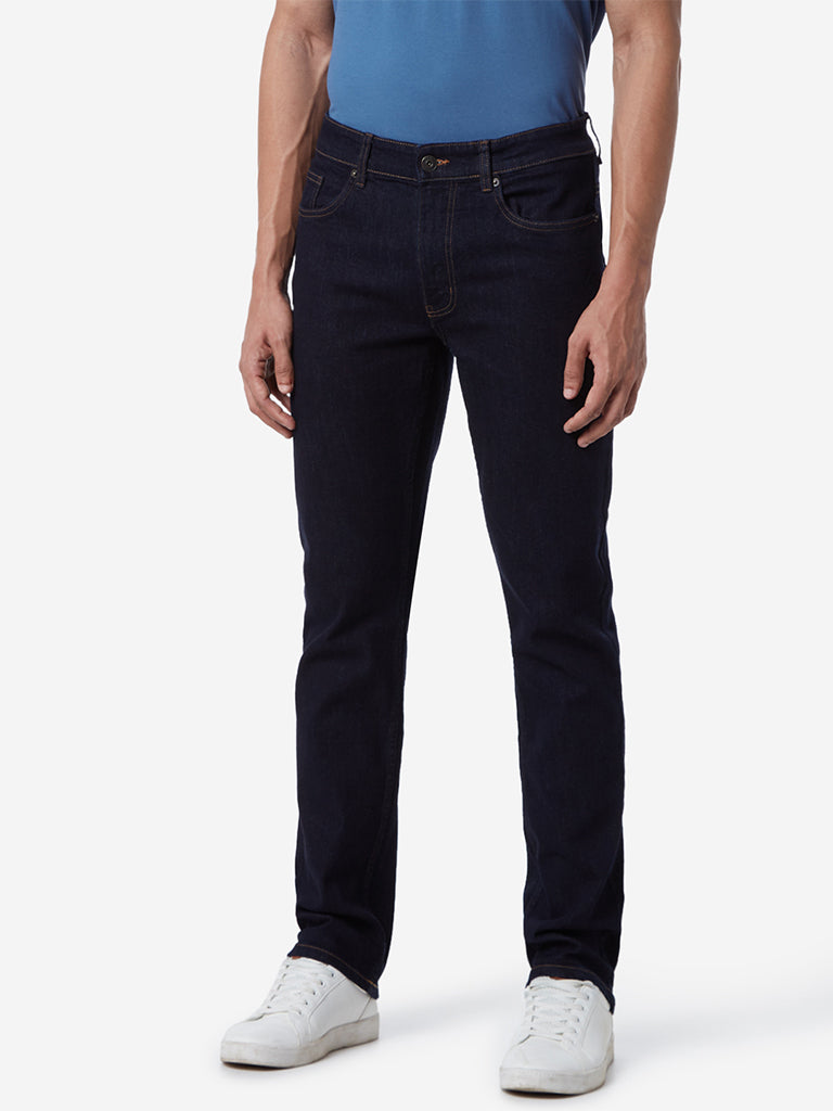 WES Casuals Dark Indigo Relaxed Fit Jeans