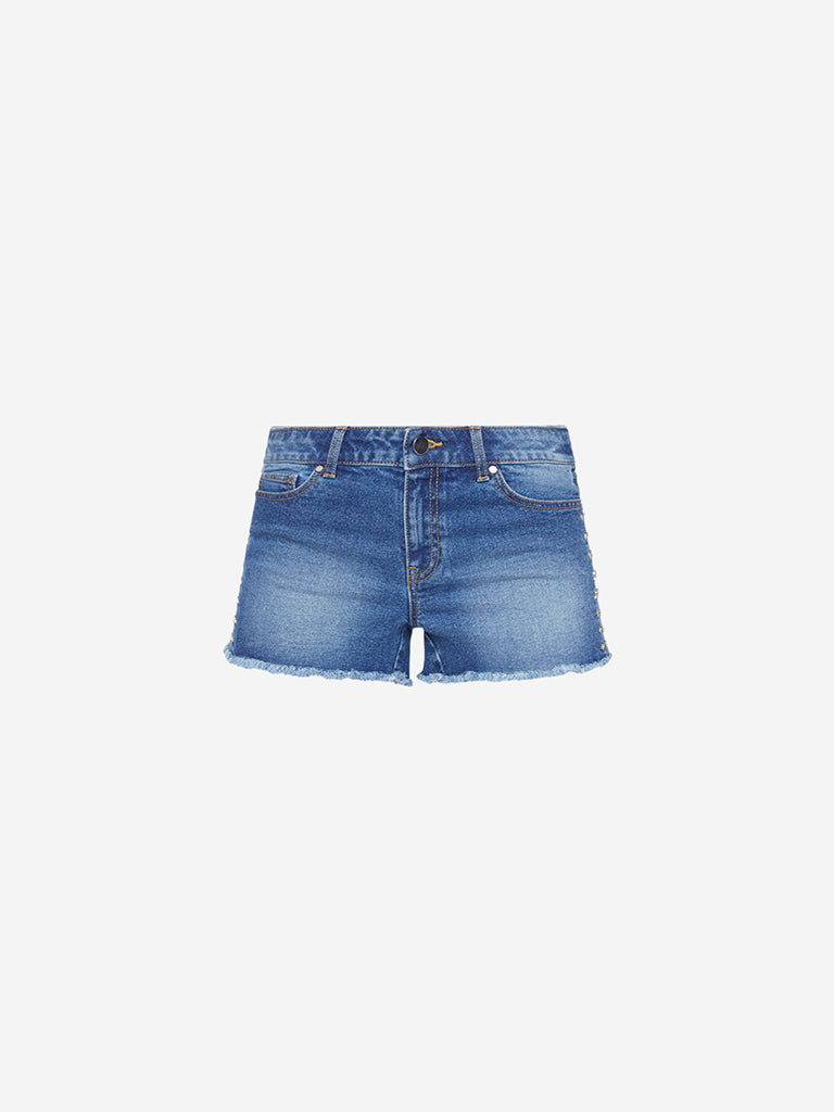 Nuon Blue Star Pattern Shorts