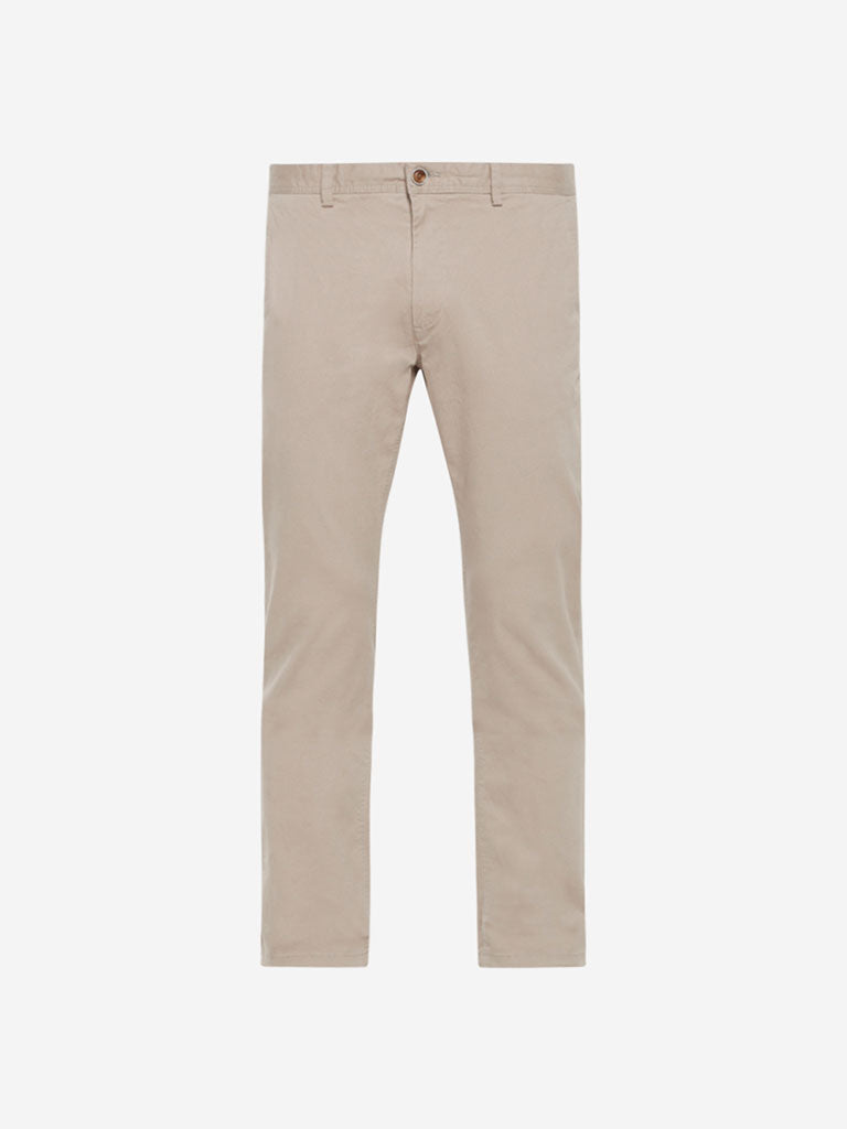 Ascot Light Beige Slim Fit Chinos