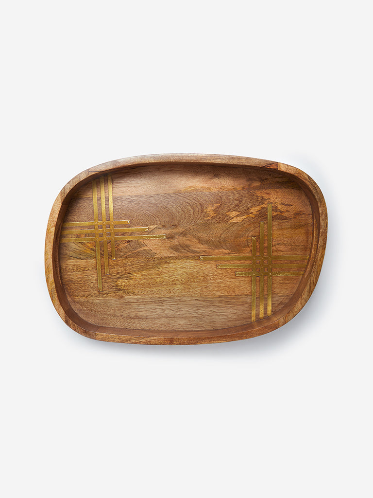 Westside Home Brown Wooden Tray