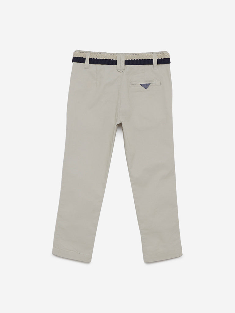 HOP Kids Beige Trousers With Belt