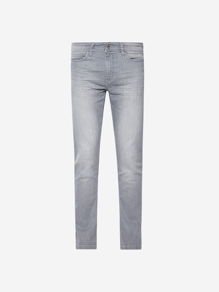 Ascot Light Grey Slim Fit Jeans