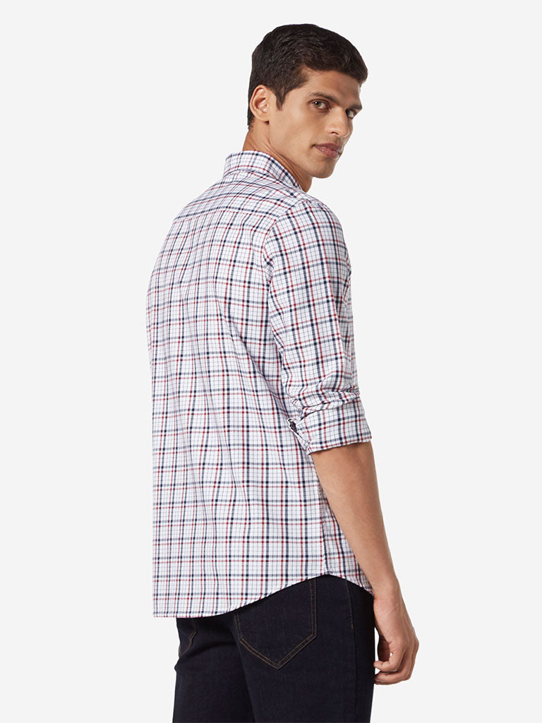 WES Casuals Multicolour Checkered Slim Fit Shirt